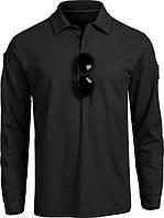 Тактическая футболка поло Outsideca с длинным рукавом (Черный) M, фото 1