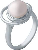 Серебряное кольцо SilverBreeze с натуральным жемчугом (2006459) 16.5 размер, фото 1