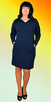 Женское платье с пуговками на рукавах