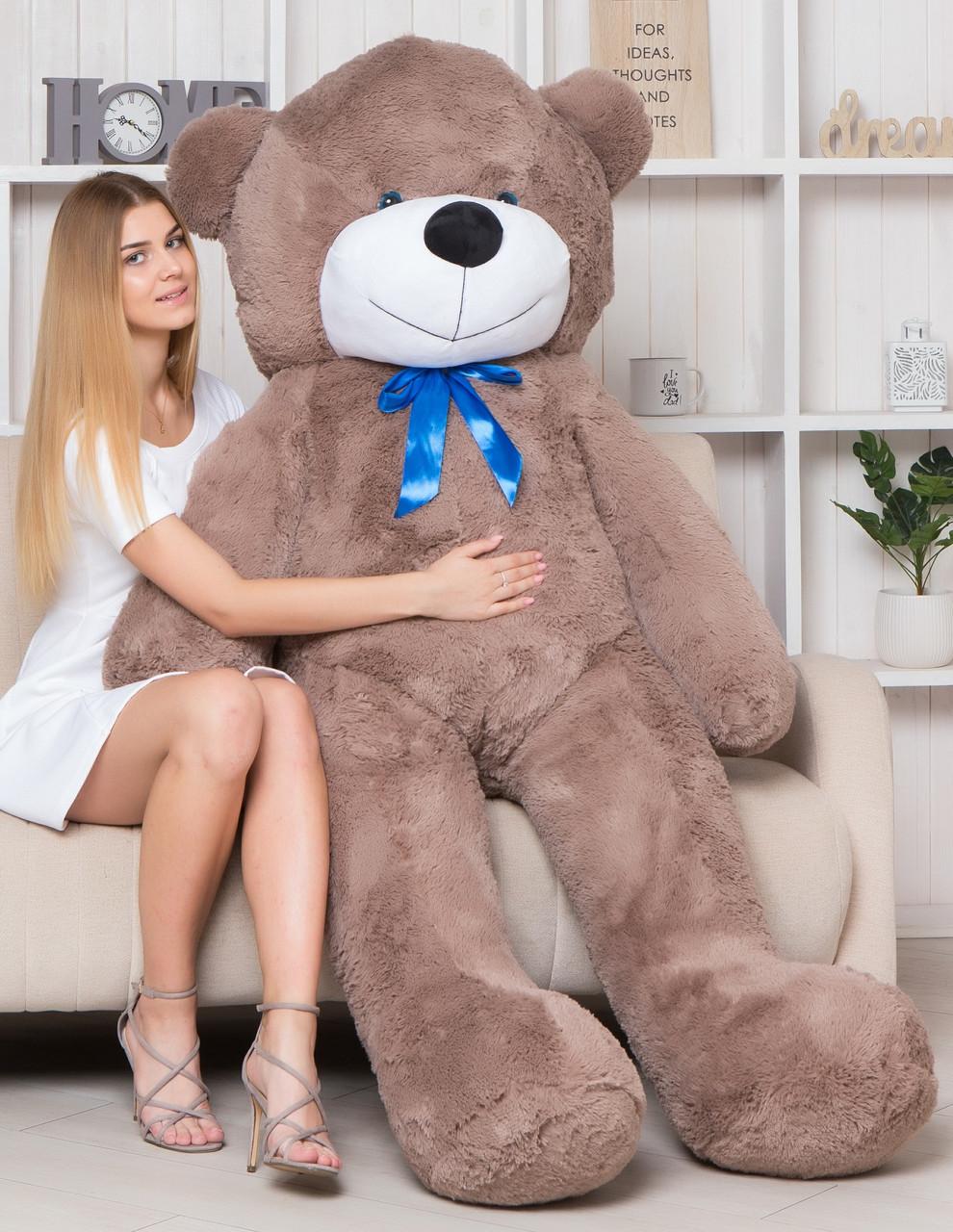 Плюшевый Мишка в Подарок. Большой Плюшевый Медведь 180 см Капучино. Большая Мягкая игрушка Мишка Плюшевый.