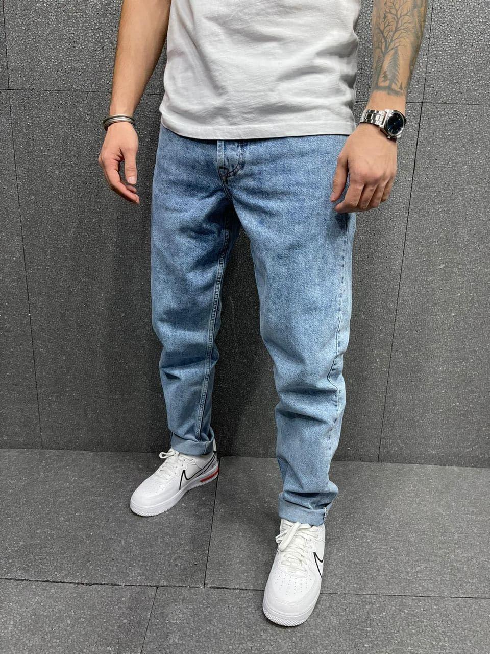 Джинсы - Мужские светлые джинсы бойфренд