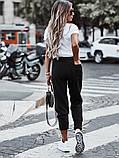 Спортивные штаны женские. Цвета- светлый беж, чёрный, серый, капучино, фисташка, фото 6