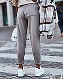 Спортивные штаны женские. Цвета- светлый беж, чёрный, серый, капучино, фисташка, фото 8