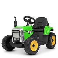 Трактор M 4478EBLR-5 (1шт) р/у2,4G, 2мотора35W, 1аккум12V7AH, колесаEVA,кож.сиденье,зеленый