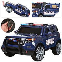 Електромобіль Джип поліція р/у(2,4 G),аккум12V/7AH ,колесаEVA,MP3,USB,гучномовець M 3259EBLR-4