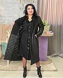 Куртка женская зимняя длинная Цвет : черный, фото 5