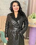 Куртка женская зимняя длинная Цвет : черный, фото 2