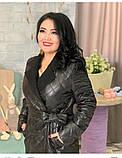 Куртка женская зимняя длинная Цвет : черный, фото 8