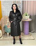 Куртка женская зимняя длинная Цвет : черный, фото 3