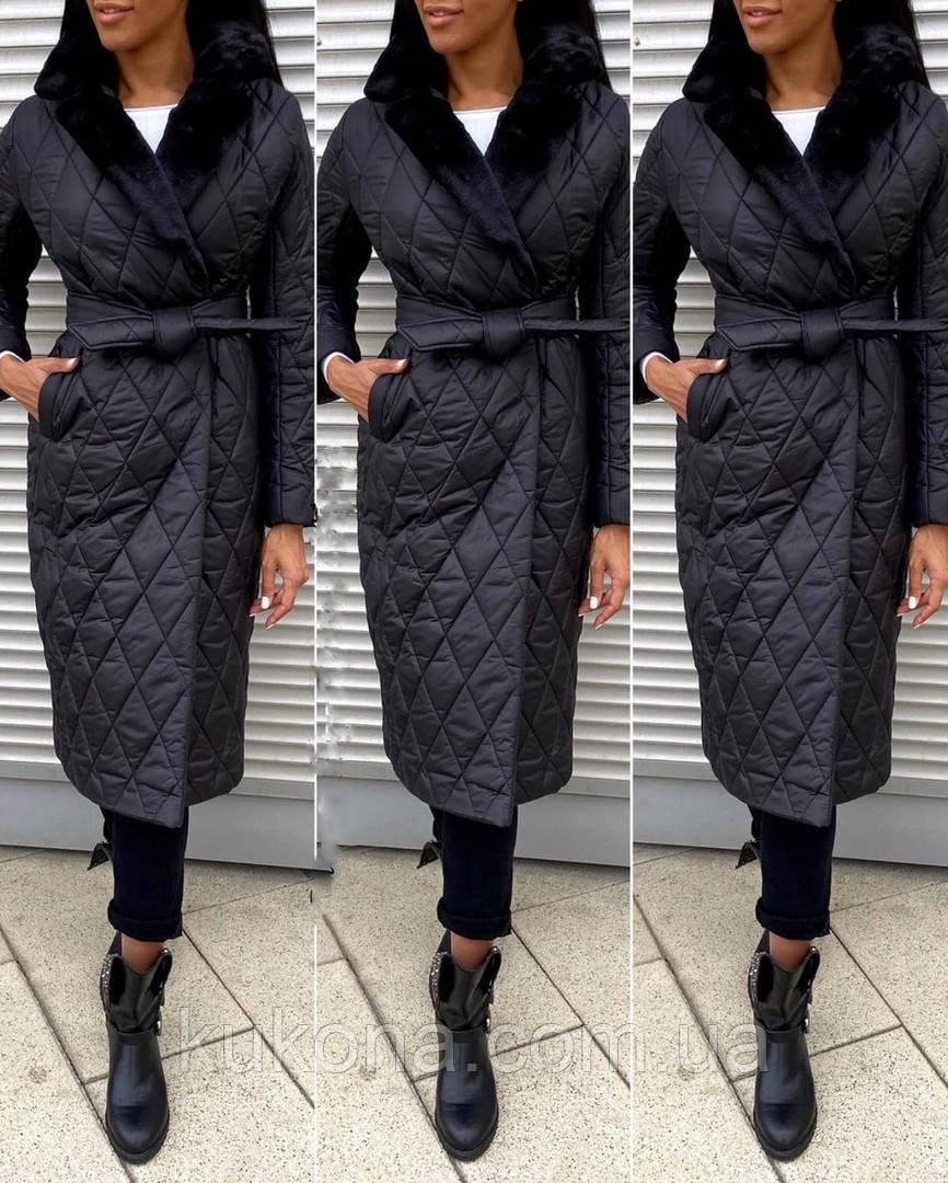 Куртка женская зимняя длинная Цвет : черный