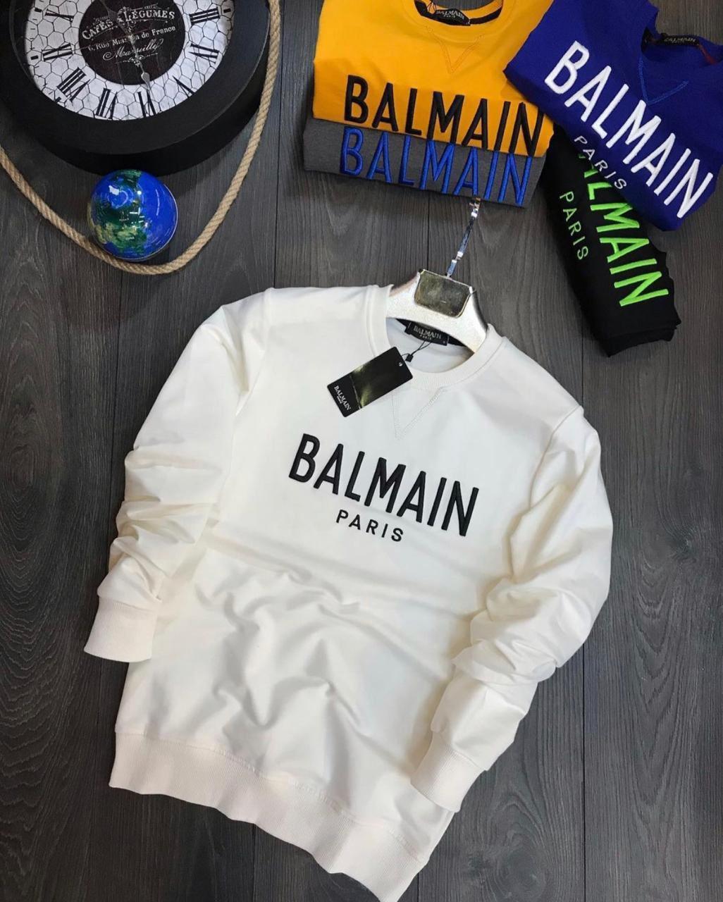 😜 Свитшот - Мужской брендовый свитшот Blmain белый
