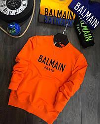 😜 Свитшот - Мужской брендовый свитшот Blmain оранжевый