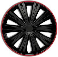 Колпак колесный giga r (черный) r13 с красной окантовкой