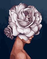 Картина по номерам 40×50 см Babylon Девушка-цветок (VP 1334)