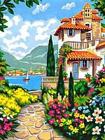 Картина по номерам 30×40 см Babylon Вилла у моря (VK 257)