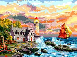 Картина по номерам 30×40 см Babylon Маяк у моря (VK 262)