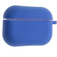Силиконовый чехол Aare Silicone Case с карабином для наушников AirPods Pro Синий 00007692, КОД: 1529479
