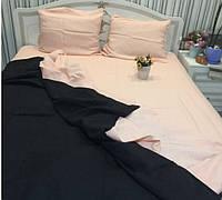 Льняная постель комплект KonopliUA 140х205 см Розово-черный 1-097, КОД: 1529564
