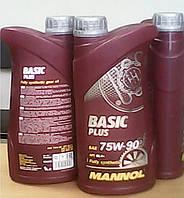Синтетическое трансмиссионное масло  Mannol Basic Plus 75W90 GL-4+  (1L)