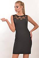 """Черное платье с кружевом """"Кашибо"""""""