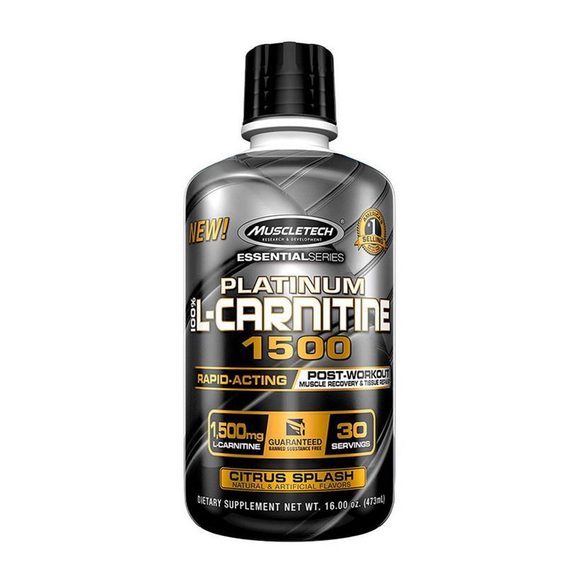 Л карнитин жидкий MuscleTech Platinum L-carnitine 1500 mg 473 ml