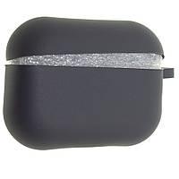 Силиконовый чехол Aare Silicone Case с карабином для наушников AirPods Pro Темно-серый 00007692, КОД: 1529485