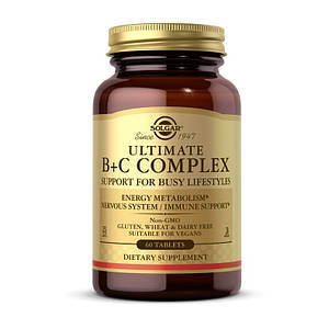 Витамин В + С комплекс Solgar Ultimate B+C Complex 60 tab
