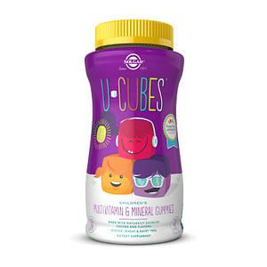 Витамины для детей Solgar U-Cubes Children's Multi-Vitamin & Mineral 120 gummies