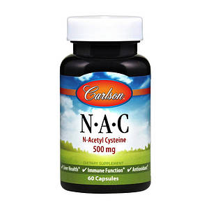Ацетилцистеин Carlson Labs NAC 500 mg 60 caps