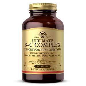Витамин В + С комплекс Solgar Ultimate B+C Complex 90 tab