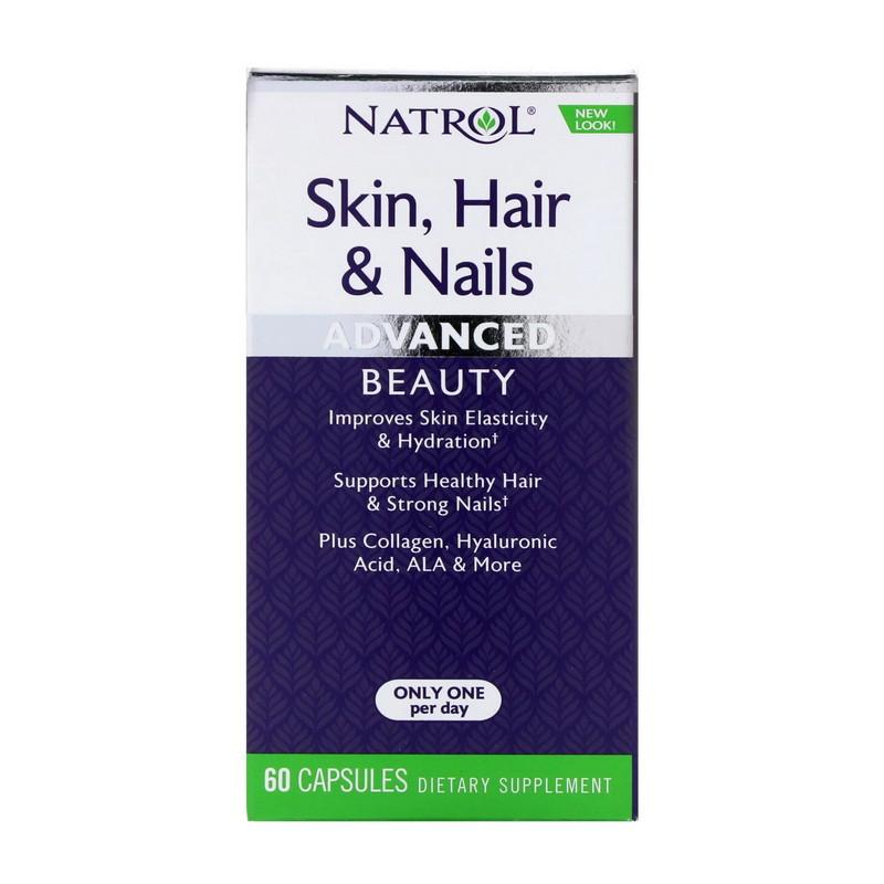 Витамины для волос, кожи и ногтей Natrol Skin, Hair & Nails 60 caps