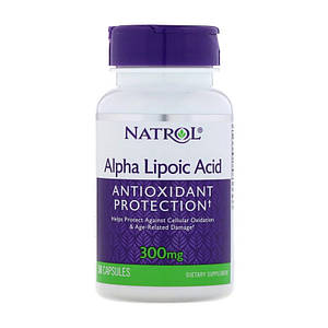 Альфа-липоевая кислота Natrol Alpha Lipoic Acid 300 mg 50 caps