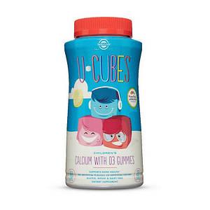 Жевательный кальций с Д3 для детей Solgar U-Cubes Children's Calcium with D3 120 gummies