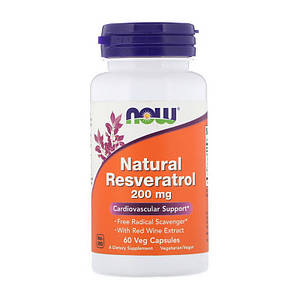 Ресвератрол NOW Natural Resveratrol 200 mg 60 veg caps