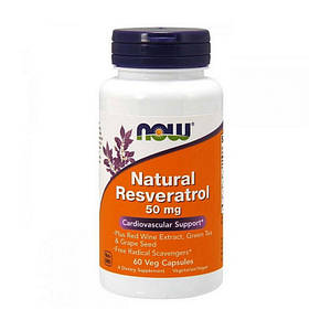 Ресвератрол NOW Natural Resveratrol 50 mg 60 veg caps