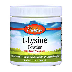 Лизин Carlson Labs L-Lysine Powder 100 g