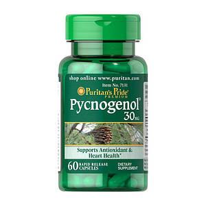 Экстракт коры французской сосны Puritan's Pride Pycnogenol 30 mg 60 caps