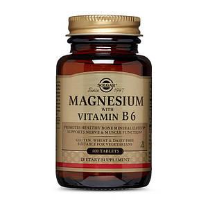 Магний с витамином В-6 Solgar Magnesium with Vitamin B6 100 tab