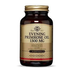 Примула Вечерняя Solgar Evening Primrose Oil 1300 mg 60 softgels натуральный вкус