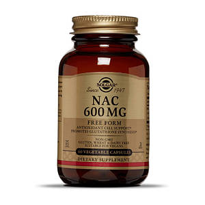 Ацетилцистеин Solgar NAC 600 mg 60 veg caps