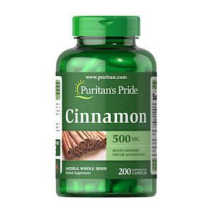 Корица Puritan's Pride Cinnamon 500 mg 200 caps