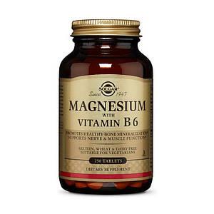 Магний с витамином В-6 Solgar Magnesium with Vitamin B6 250 tab