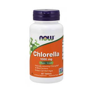 Хлорелла NOW Chlorella 1000 mg 60 tab