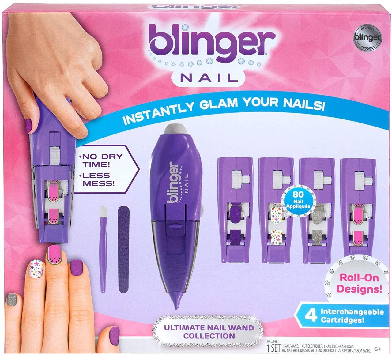 Набор для маникюра, накладные ногти Blinger Nail Wand Cartridge