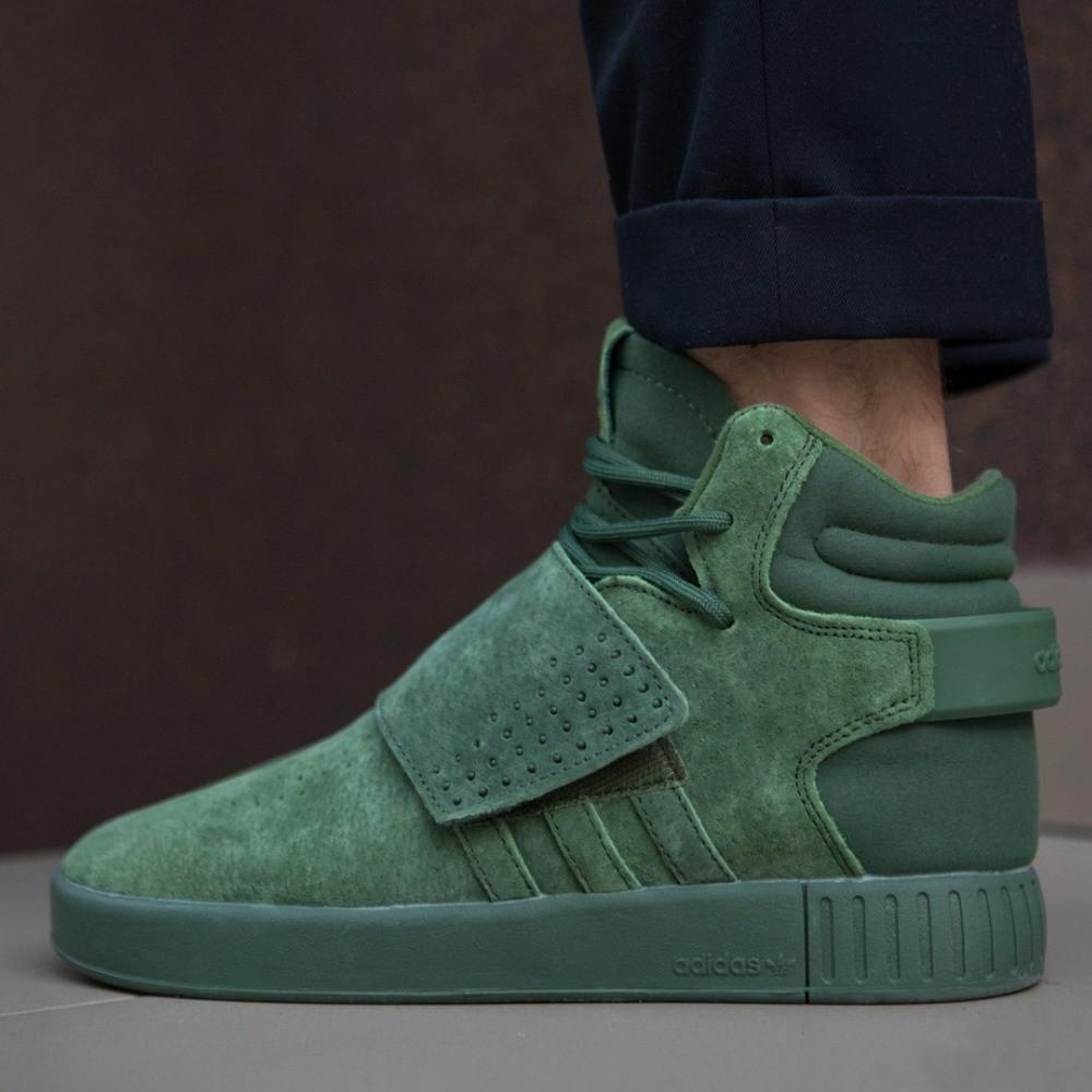 Мужские кроссовки Adidas Tubular Invader Strap Green \ Последний размер 41