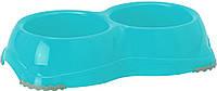H106026 Moderna Smarty Bowl №1 Двойная пластиковая миска,2х330 мл, светло-серый