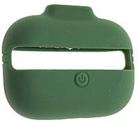Чехол силиконовый Aare с ремешками для наушников AirPods Pro Темно-зеленый 00007697, КОД: 1536403