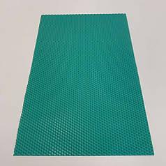 Цветная вощина для изготовления свечей, лист 41х26 см, бирюзовая