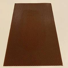 Цветная вощина для изготовления свечей, лист 41х26 см, коричневая