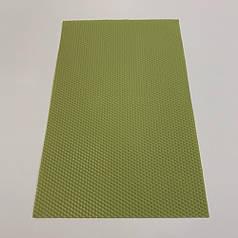 Цветная вощина для изготовления свечей, лист 41х26 см, оливковый